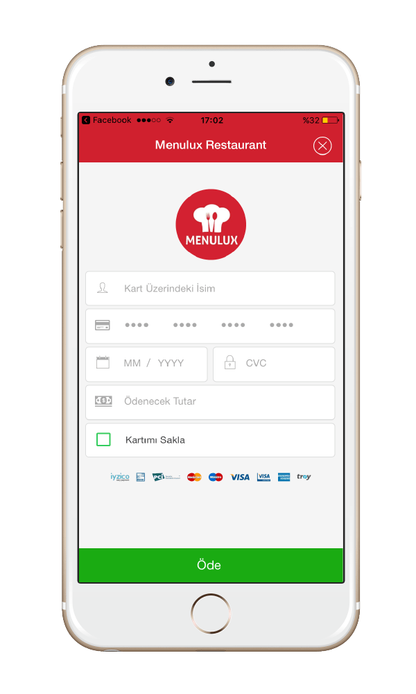 Menulux Pocket mobile payment systems credit card processing