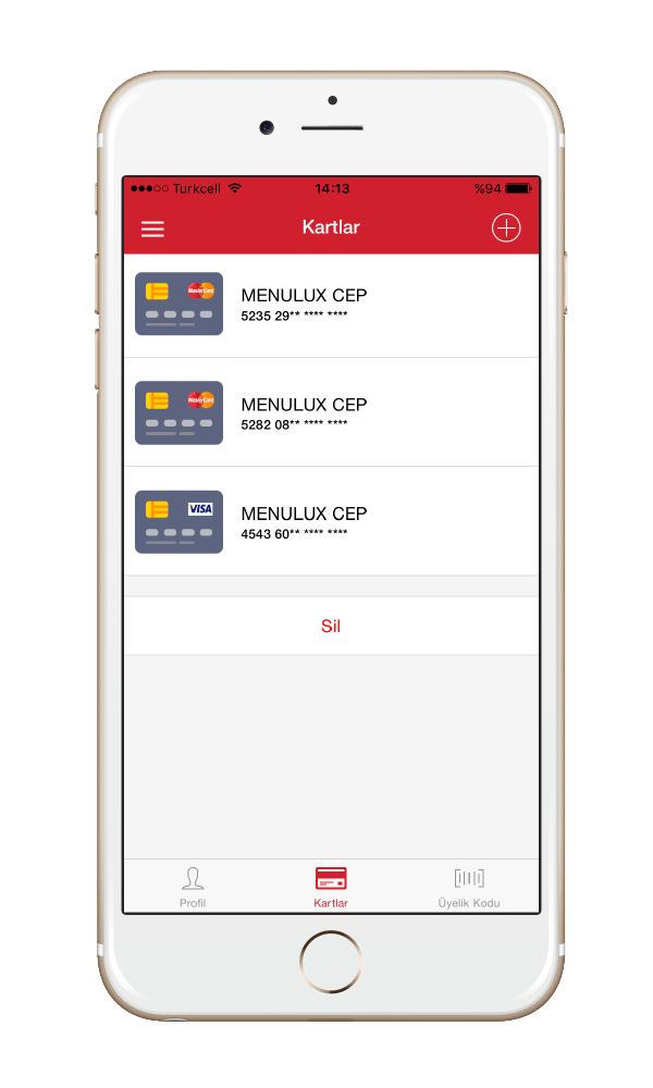 Menulux Pocket mobile payment systems credit card store feature