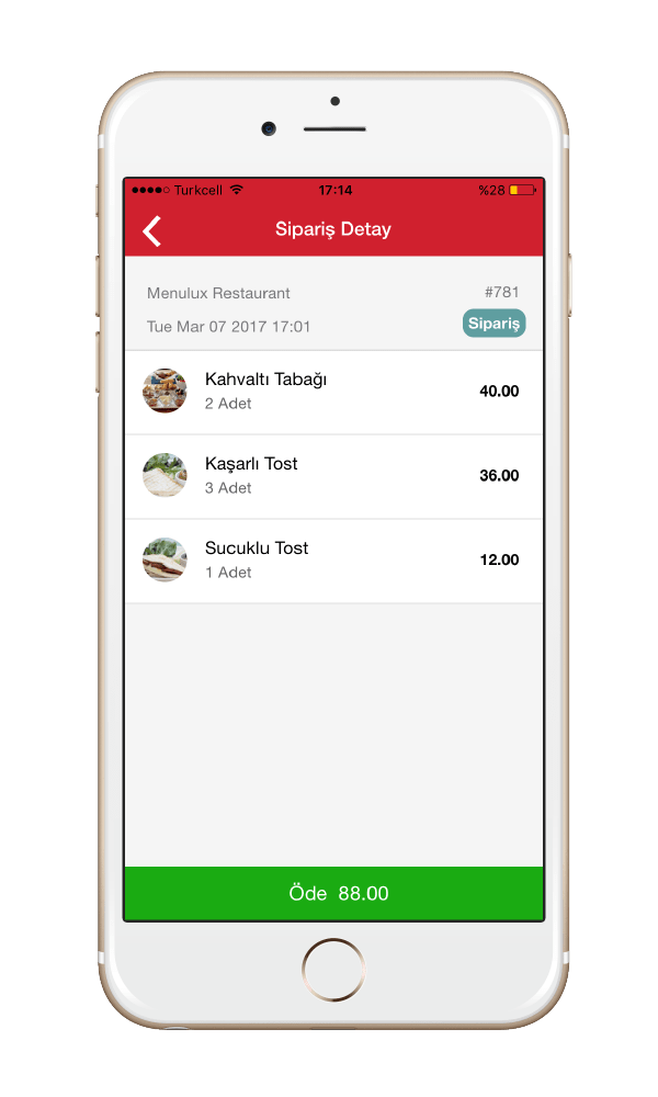 Menulux Cep Menü Mobil Ödeme Sistemi Qrcode menü okuyucu ekranı