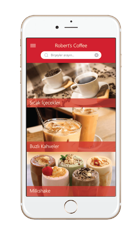 Menulux Pocket digital restaurant menu system categories screen