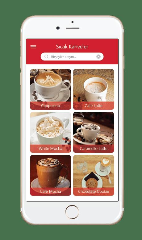 Menulux Cep Restoran Sipariş Sistemi Mobil Sipariş Programı Ürünler Ekranı
