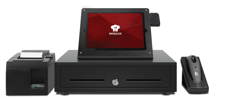 Menulux POS mobile restaurant POS system harware kit