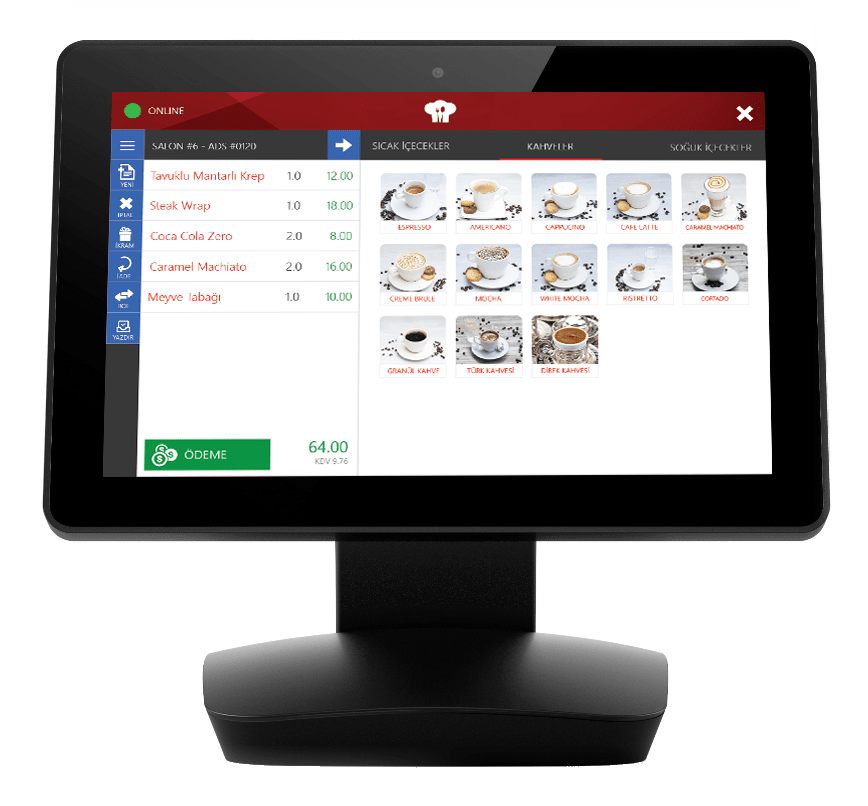 Menulux POS restaurant POS system for orders management