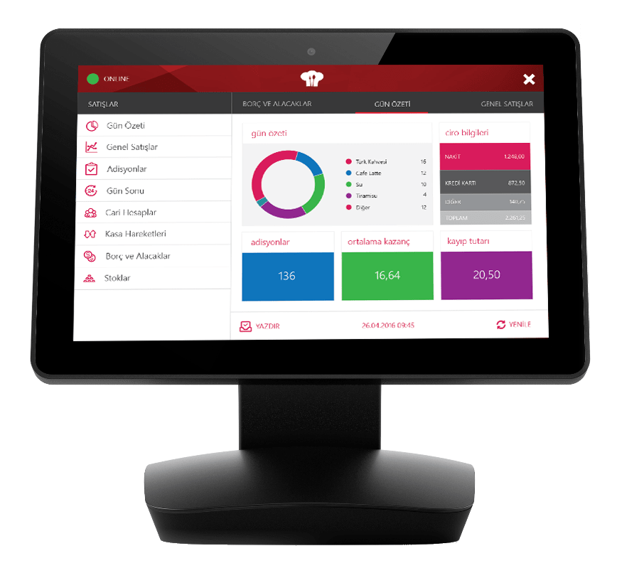 Menulux POS restaurant POS system for sales management