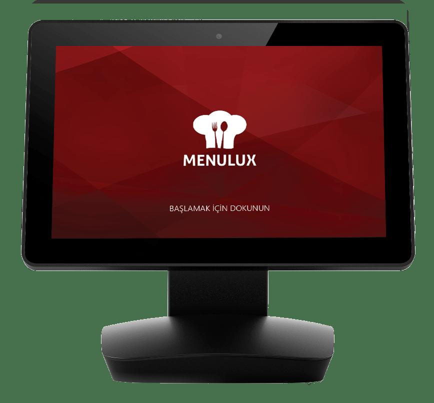 Menulux POS sistemi adisyon programı restoran otomasyonu idisplay giriş ekranı