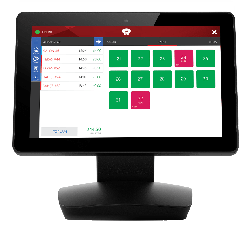 Menulux POS restaurant POS system for tables management
